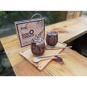 Bột Socola Dừa Coco Choco SHE Chocolate 420g của Việt Nam Được Kết Hợp Giữa Bột Socola SHE Nguyên Chất và Bột  Dừa Hương Vị Độc Đáo, Thơm Ngon, Đặc Biệt Rất Tiện Lợi
