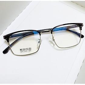 Gọng kính cận mắt vuông nửa viền kim loại, càng dẻo cao cấp Udany 6625 dành cho nam và nữ