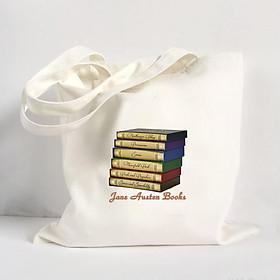 Túi Vải Đeo Vai Tote Bag In Hình Jane Austen Books - Hàng Chính Hãng