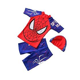 Đồ bơi họa tiết Spider man với chất liệu polyester dành cho trẻ em từ 2 đến 12 tuổi Cleacco