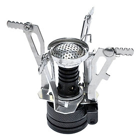 Outdoor Hiking Portable Outdoor Picnic Gas Foldable Camping Mini Steel Stove Case New