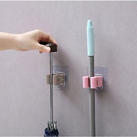 Hình đại diện sản phẩm Combo 2 Giá Treo chổi, cây lau nhà, dụng cụ tự bám siêu tiện dụng đế dính chịu lực 5kg (Màu ngẫu nhiên)