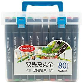 Hộp Bút Lông Màu 2 Đầu Grasp 80 Màu 508-80