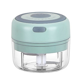 Mini Garlic Grinder Electric Garlic Chopper Cordless Food Fruit Vegetable Blender Kitchen Gadgets 100ML USB Rechargeable