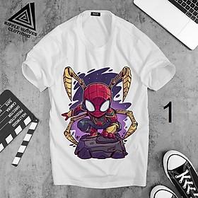 In hình Người Nhện, Spider-Man - Áo thun Cotton nam, nữ tay ngắn, cổ tròn
