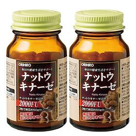Combo 2 hộp thực phẩm bảo vệ sức khỏe hỗ trợ điều trị Tai biến, Đột quỵ Orihiro Nattokinase Nhật Bản 60 viên