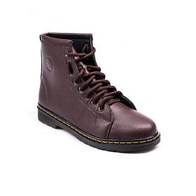 Giày boot nam - Giày đốc cao cổ da sần màu nâu M91
