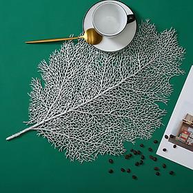 Phụ Kiện Chụp Ảnh, Lót Bàn Ăn Trang Trí Decor Nhà Hình Chiếc Lá Siêu Đẹp