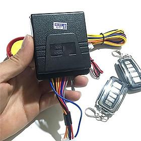 Bộ khóa chống trộm xe máy 2 remote 5 nút