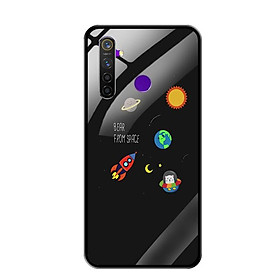 Ốp Lưng Kính Cường Lực cho Điện thoại Realme 5 Pro - 0510 SPACE06 - Hàng Chính Hãng