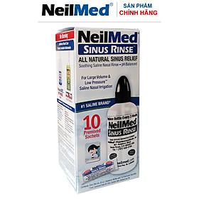 Bình (Bộ Dụng Cụ) Rửa Mũi Xoang Người Lớn NeilMed SinusRinse Adult Kit -Xuất Xứ Mỹ(1 bình + 10 gói)