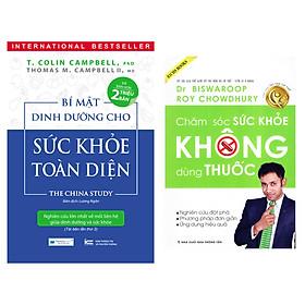 Combo Sách Bí mật dinh dưỡng cho sức khỏe toàn diện ( Tái bản lần 2 ) + Chăm sóc sức khỏe không dùng thuốc