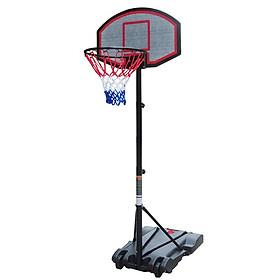 Chân trụ bóng rổ  trường học chuyên nghiệp hàng nhập khẩu kích thước ngang 75cm * Rộng 55cm x Cao 200-240 cm
