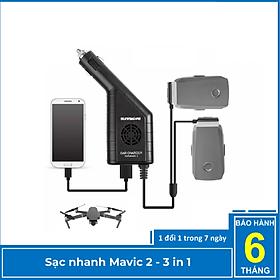 Sạc oto Mavic 2 pro zoom – 2 cổng pin và 1 USB - Yxtech - Hàng chính hãng