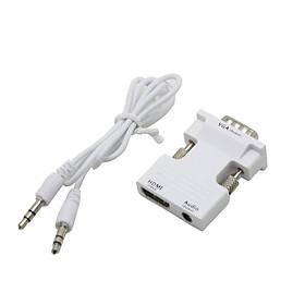 Bộ Chuyển Đổi Cáp Âm Thanh Từ VGA Sang HDMI HDTV Với Cáp Cắm USB (3.5mm 1080P)