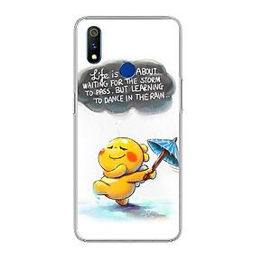 Ốp điện thoại Realme 3 Pro - 0009 RAIN01 - Silicon dẻo - Hàng Chính Hãng