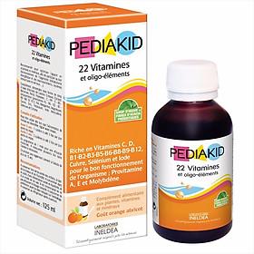 Thực phẩm chức năng PEDIAKID 22 Vitamines et Oligo - Elements, 22 Vitamin và Khoáng Chất (125 ml)