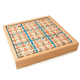 Wooden Sudoku Game Adults Logical Thinking Chess Sudoku Chess Children Board Games Table Toy Education Puzzle Toy