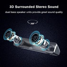 SADA V-108 Speaker Bar Computer Speakers Stereo HiFi Sound Wired Computer Sound Bar Rich Bass USB Powered Soundbar