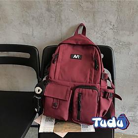 Balo Đi Học Nhiều Ngăn, Ba Lô Nam Nữ Phong Cách Hàn Quốc, Vải Dù Chống Nước Kèm Phụ Kiện, Đựng Vừa Laptop 14 inch CN157