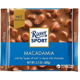 Combo 6 thanh Chocolate Ritter Sport Macadamia 100gr