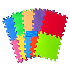 Bộ 10 Miếng Thảm Cao Su Phước Thành 10 màu (30 x 30 cm)