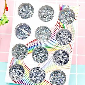 Set 12 hũ trang trí dành cho Móng tay & Nails