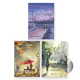 Combo 3 sách: 999  bức thư viết cho bản thân + 1001 bức thư viết cho tương lai + 123 Thông điệp thay đổi tuổi trẻ (Song ngữ Trung Việt có phiên âm) (Có Audio nghe) + DVD quà tặng