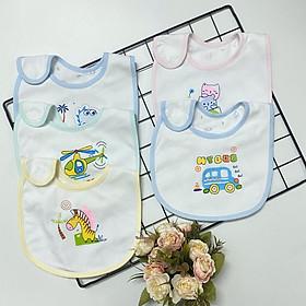 Set 5 Yếm sơ sinh cotton 2 lớp mềm, mịn, đẹp J-TomTomBaby cho bé trai, bé gái