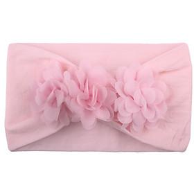 Băng đô turban bé gái đính hoa cao cấp bản to vải mềm co giãn mẫu bán chạy AHBĐ31