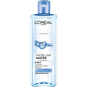 Nước tẩy trang Loreal Micellar Water 3-in-1 Refreshing Even For Sensitive Skin