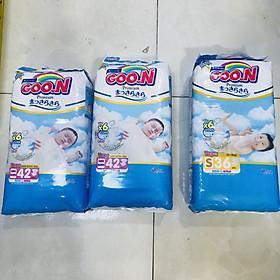 Combo 2 Tã Dán Goon premium Newborn (42 Miếng) Tặng 1 Tã Dán Goon Premium Gói Đại S36 (36Miếng)