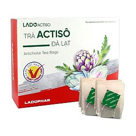 Trà atiso Ladophar hộp 100 túi lọc tặng 2 túi trà actiso Premium Ladophar giúp mát gan thông mật lợi tiểu