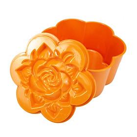 Bộ khuôn nhựa làm xôi, làm bánh hình hoa hồng cỡ trung GS00045