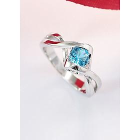 Nhẫn bạc nữ đính đá xanh dương NN0184