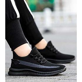Giày Thể Thao Nam Vải Cao Cấp Êm Nhẹ May Vạch Trắng Bên Hông Designed Hàn Quốc - 3196N