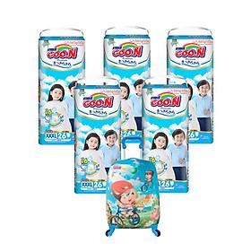 Tã quần Goon Premium - 5 bịch tặng vali kéo cho bé
