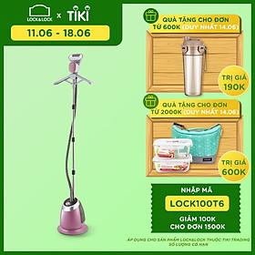 Bàn Ủi Hơi Nước Dạng Đứng Lock&Lock ENI211 - Hồng Phối Trắng - Hàng Chính Hãng