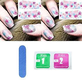 Miếng dán móng tay nghệ thuật Nail stickers (Kèm dũa và khăn)