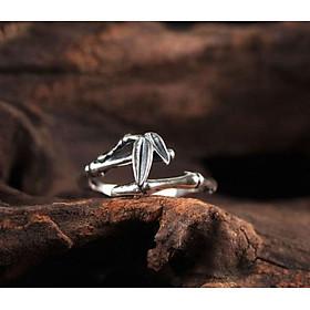 Nhẫn bạc nữ hình đốt trúc N025