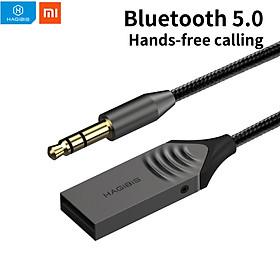 Xiaomi Hagibis Bộ thu Bluetooth 5.0 trên ô tô Bộ chuyển đổi không dây Jack cắm AUX 3.5mm Cáp âm thanh Điều hướng cuộc gọi rảnh tay
