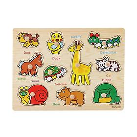 Bảng ghép hình động vật (gỗ ghép) giúp phát triển trí tuệ
