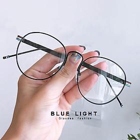 Gọng Kính Cận, Kính Giả Cận Nam Nữ Mắt Tròn Gọng Đen Càng Kính Thiết Kế 3 Màu Hàn Quốc - BLUE LIGHT SHOP