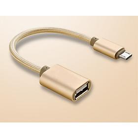 Cáp OTG Micro USB Sang USB 2.0 - Mở Rộng Kết Nối Cho Điện Thoại Với USB, Chuột, Bàn Phím