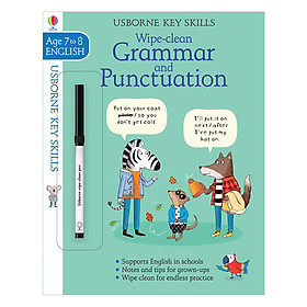 Usborne Usborne Key Skills Wipe-clean Grammar & Punctuation 7-8