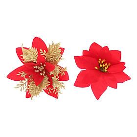 Combo 2 Bông Trạng Nguyên Kim Tuyến Trang Trí Noel - Hình Ngẫu Nhiên