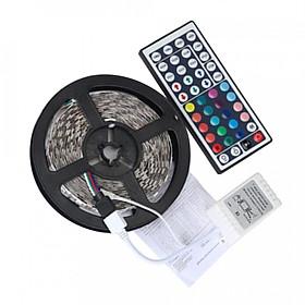 Dây đèn LED RGB Kèm Remote SMD 3528 Đen + Trắng