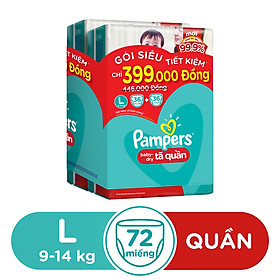 Combo 2 Tã Quần Pampers Tiết Kiệm L36 (36 Miếng / Gói)-1