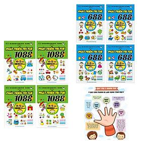 Bộ Sách Rèn Luyện Trí Thông Minh (8Q) : 1088 Câu Đố Phát Triển Trí Tuệ 4-5 Tuổi ( Bộ 4Q) + Combo 688 Câu Đố Phát Triển Trí Tuệ 2-3 Tuổi (Bộ 4Q) + Poster An Toàn Cho Con Yêu (Sách Phát triển trí tuệ / Tư duy logic dành cho bé 4-6 tuổi )