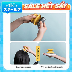Hair Scalp Massager Shampoo Brush Soft Silicone Wet and Dry Hair Brush Scalp Massage Brushes Hair Washing Comb Bath